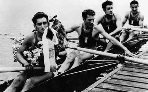 da sinistra Giuseppe Moioli, Elio Morille, Giovanni Invernizzi e Franco Faggi