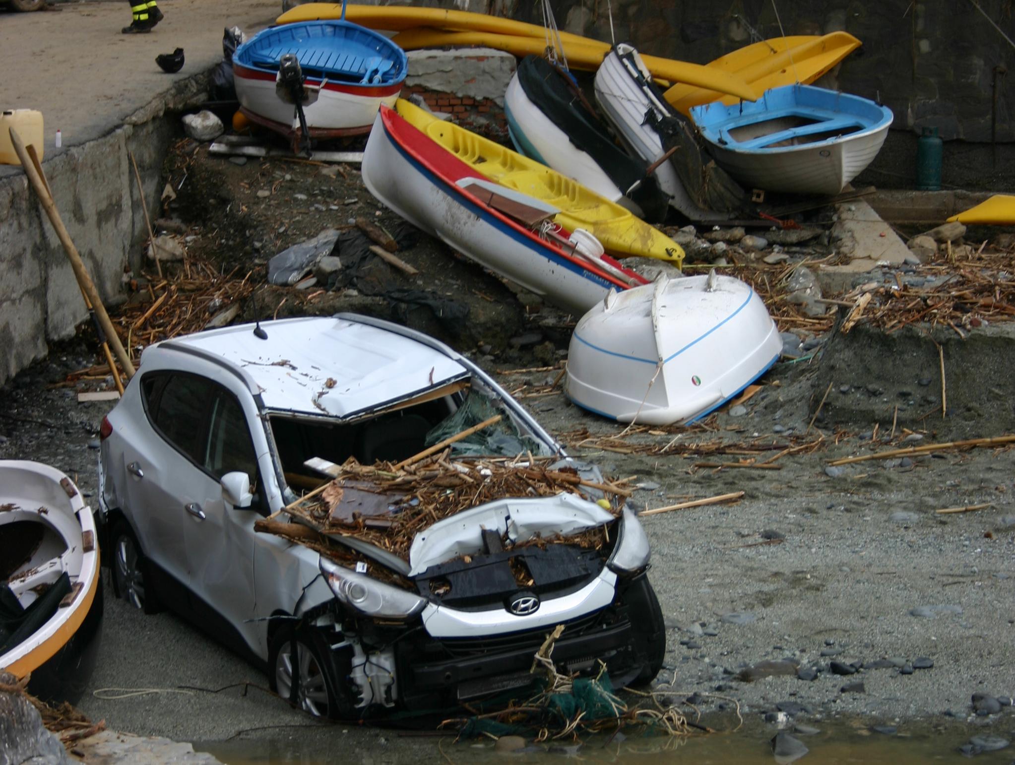 un'immagine dell'alluvione