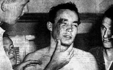 Ervin Zádor subito dopo essere stato colpito