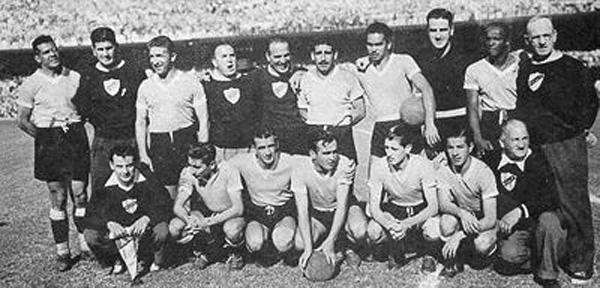 la squadra uruguayana prima della finale