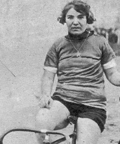 Alfonsina dopo una gara