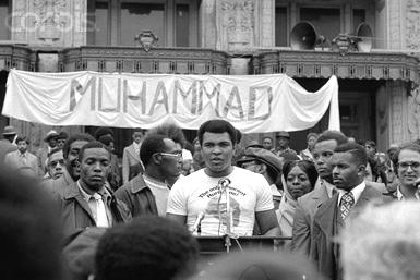 1967: Ali manifesta contro la guerra in Vietnam (da Dipity)