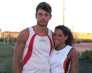 Daniele con la fidanzata Francesca Lanciano