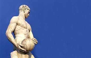 la statua di Milon al Foro Italico