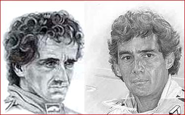 Alan Prost e Ayrton Senna