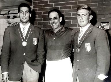Eraldo Pizzo (a sinistra) e Franco Lavoratori a Roma 1960 (© Razete-Recco)