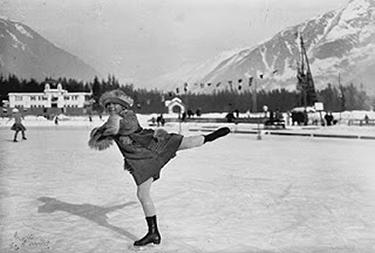 La Henie ai Giochi di Chamonix (© Olympic.org)