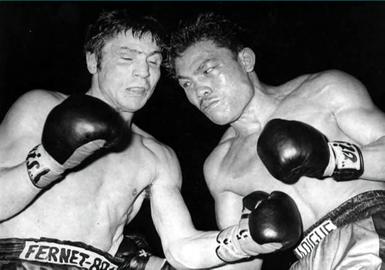 il match con Pedro Adigue (archivio Arcari)