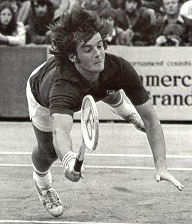 Adriano Panatta in azione