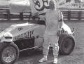 Salvatore Scarpitta sulla pista di Hagerstown, Maryland, nel 1988