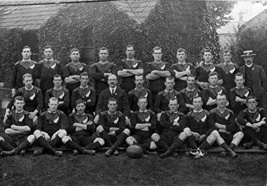gli All Blacks nel 1905 (da Outpost)