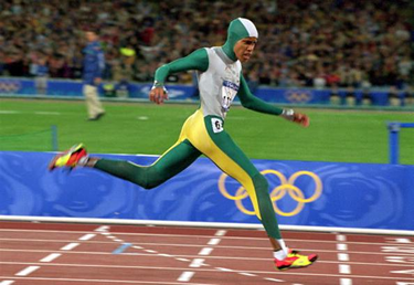 Cathy Freeman taglia il traguardo (© Getty Images)