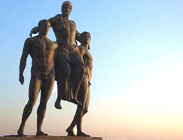 la statua di Diagoras a Rodi