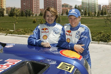Fabrizia Pons e Jutta Kleinschmidt
