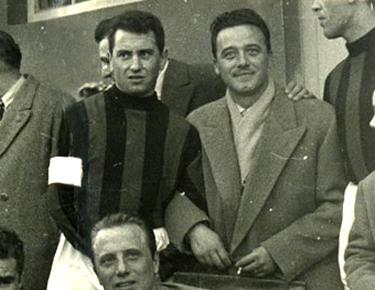 Valletti col capitano dl Milan Andrea Bonomi