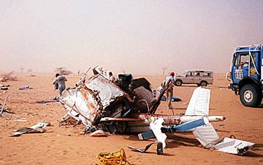 i resti dell'elicottero di Sabine