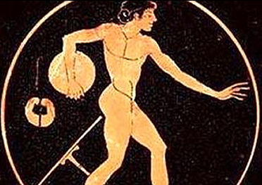 lancio del disco alle Panatenee