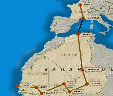 l'itinerario della prima Parigi-Daka