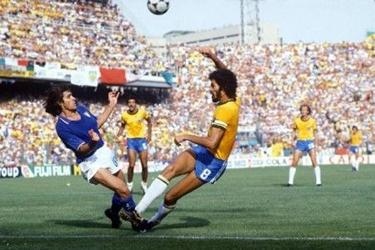 una fase di Brasile-Italia 2-3 del 1982