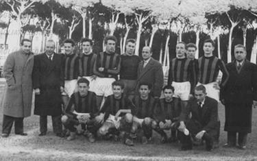 il Milan, vincitore dell'edizione del 1949