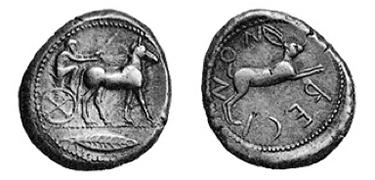 AR Tetradramma di Rhegion (Reggio) (ø 25 mm – g. 16.95) 484-476 a.C.