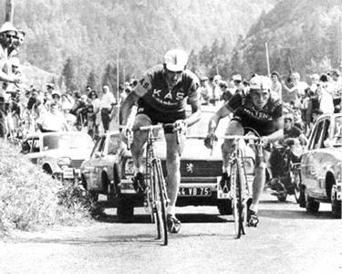 Dancelli (a destra) in fuga con Andres Gandarias al Tour