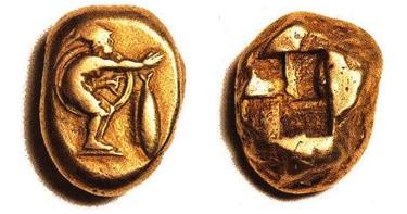 EL Statere di Kyzikos (Mysia) (ø 19.5 mm - g 15.93), coniato attorno al 475-450 a.C..