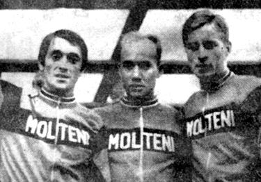 Michele Dancelli, Edy Schütz e Davide Boifava nel 1969