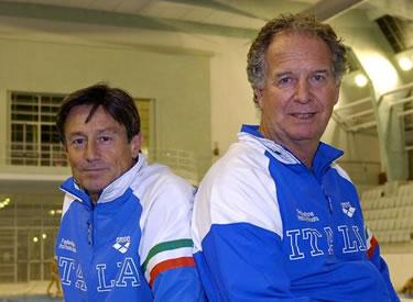 Giorgio Cagnotto e Klaus Dibiasi oggi (© Alfero/La Presse)
