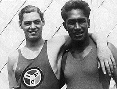 Johnny Weissmuller e Duke Kahanamoku
