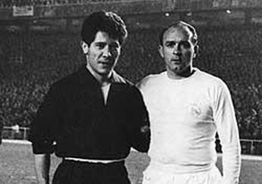 Sívori e Di Stefano prima della partita