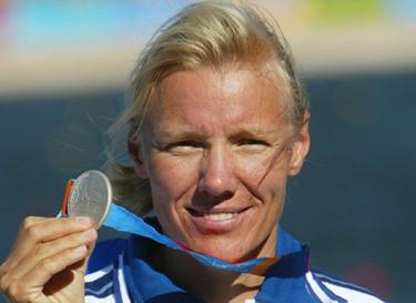 la Idem con una delle sue tante medaglie (©SIPA)