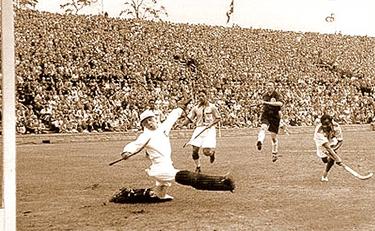 un gol di Chand nella finale olimpica del 1936