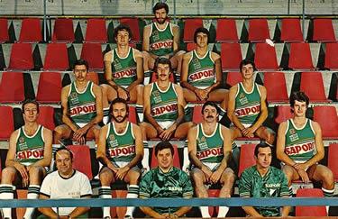 Enrico Bovone (in alto) nella Sapori Siena 1974-75