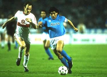 Maradona durante la finale