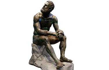 Pugile in riposo (bronzo, I secolo AC)