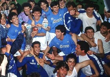 la gioia dopo la conquista della Coppa UEFA (© Napolicalcio.net)