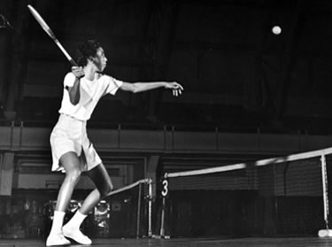 Althea Gibson in allenamento