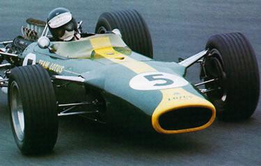 Clark a bordo della Lotus a Zandvoort (1967)