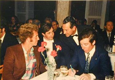 Klaus Dibiasi e Gustav Thöni nel 1972