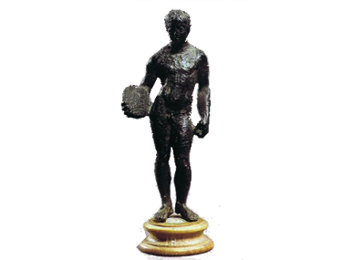 bronzetto di lanciatore  425 ac da Marzabotto  Museo Archeologico Firenze