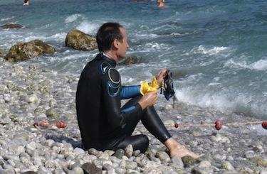 Salvatore Cimmino prima di cimentarsi nella Capri-Napoli