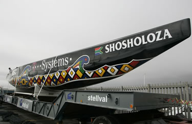 la Shosholoza pronta a scendere in mare (© T-Systems)