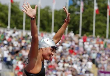 l'entusiasmo di Martina per il bronzo di Londra (© Reuters)