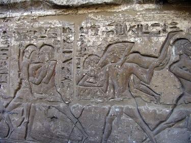 Un bassorilievo del tempio di Ramses III