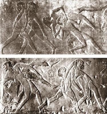 Quattro delle sei raffigurazioni della tomba di Ptah-Otep