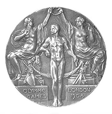 La medagliadi Londra 1908 (Recto)