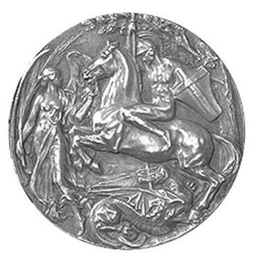 La medaglia di Londra 1908 (Verso)