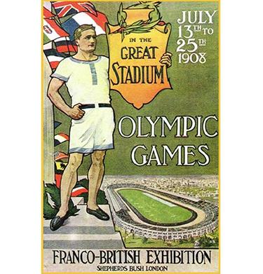 Il manifesto ufficiale dei Giochi di Londra 1908