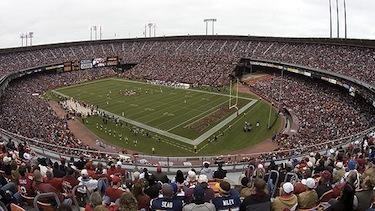 Un'immagine del Candlestick, lo stadio di San Francisco